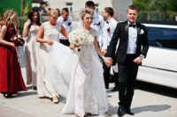 wedding limo rental wedding day